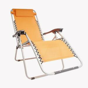 Poltrona Sdraio Reclinabile.Dettagli Su Gate14 Poltrona Sdraio Reclinabile Total Relax Arancione