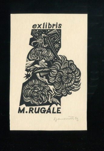 "EXLIBRIS,303a Ladislav Rusek /""Clown/"""