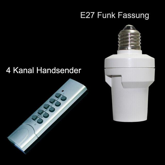 HE Funk Lampenfassung E27 Fassung Funkfassung An  Aus Wandschalter Fernbedienung