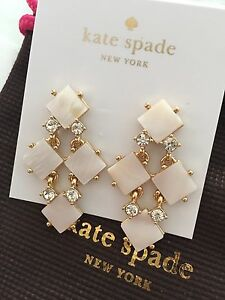 Image Is Loading Authentic Kate Spade Pearl Cove Chandelier Earrings Cream