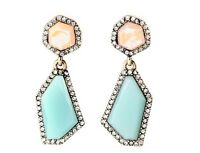 Fashion Jewelry Antique J.crew Style Wedding Blue Crystal Statement Earrings