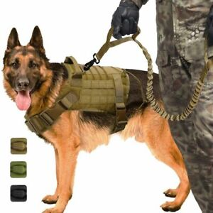 Military-K9-Adjustable-Nylon-Training-Medium-Large-Dog-Vest-Harness-M-L