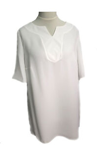 Womens-Ladies-Plus-size-New-Tunic-kaftan-Top-White-Crepe-Sizes-18-20-now-reduced