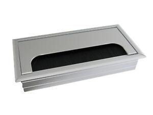 100-x-Aluminium-Kabeldurchlass-Kabeldurchfuehrung-Kabelauslass-ALU-160mm-x-80mm
