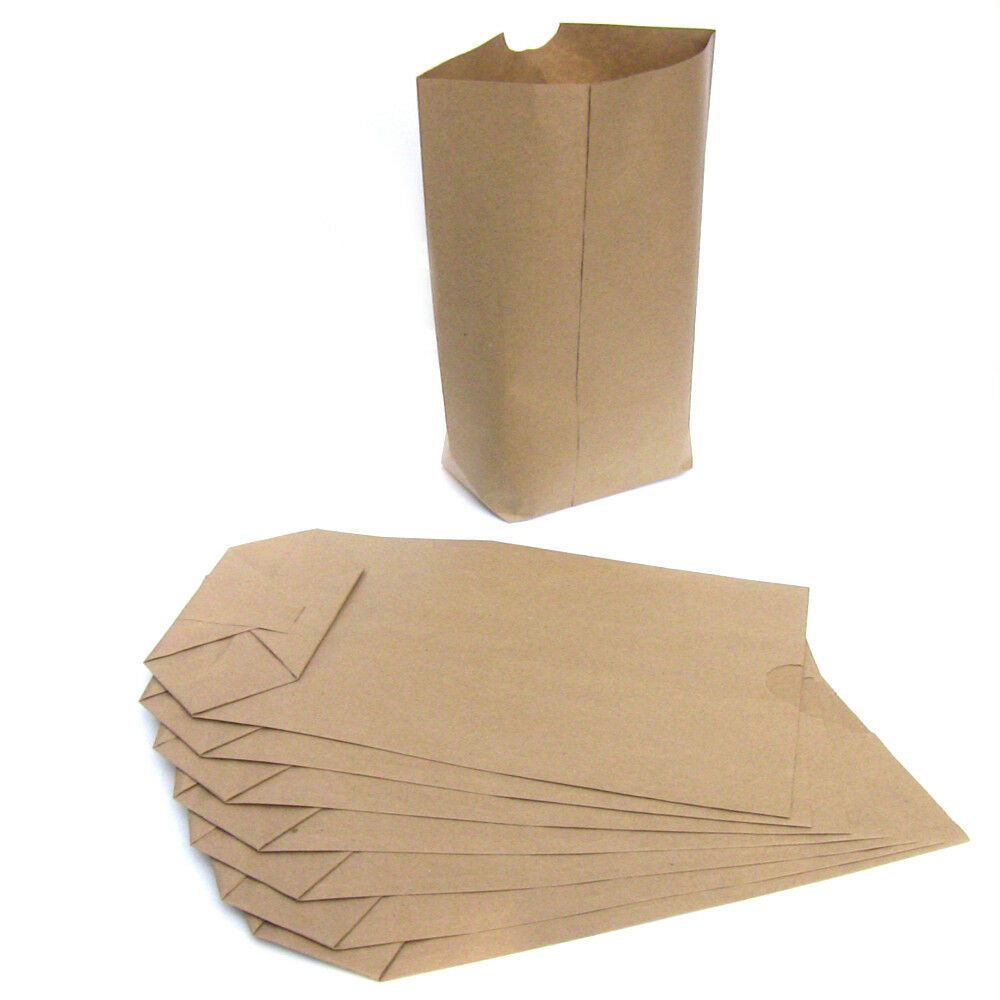 Papiertüten Kreuzboden für Weihnachtskalender Kraftpapier versch.Größen I