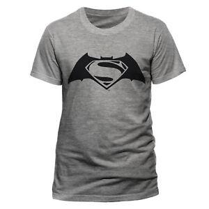 c0ceb2194a Detalles acerca de Oficial Batman el logotipo de Superman Negro V Camiseta  Gris Dc Comics Para Hombre M L XXL- mostrar título original