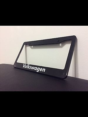 Black VW VOLKSWAGEN Personalized Custom  License Plate Frame tag holder