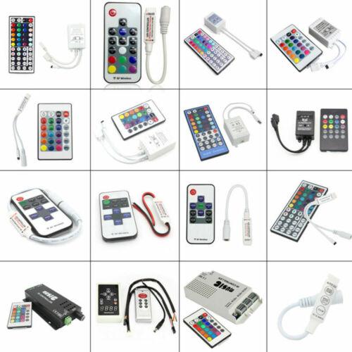 For RGB 3528 5050 LED Strip Light 3//10//24 Key Wireless IR RF Remote Controller