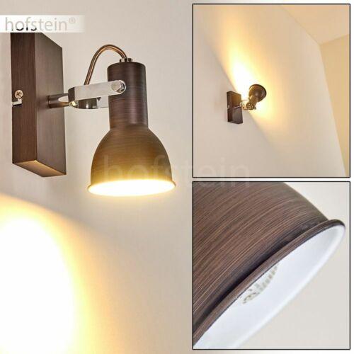 und schwenkbar Flur Wohn Schlaf Zimmer Leuchten Lampen braun Wand Strahler dreh