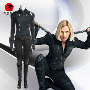 Details About Dfym Avengers Infinity War Black Widow Natasha Romanoff Cosplay Costume Suit