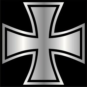 Iron-Cross-Decal-Sticker-Choose-Color-amp-Size-German-Maltese-Knights-Choppers