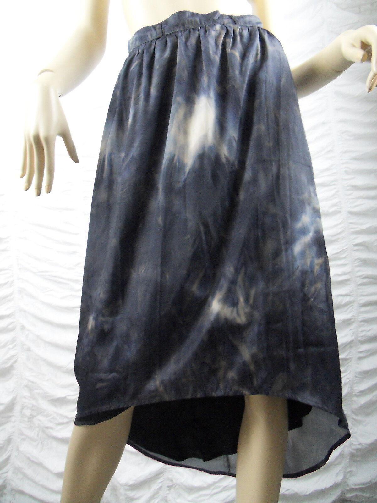 DECJUBA bluee marble print marbellous high low maxi skirt size 8 BNWT