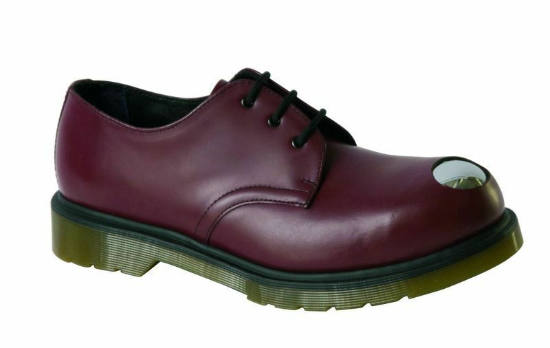 Dr Martens Doc 3-hole Keaton Cherry Red Steel Toe Cap 14603600 the Original