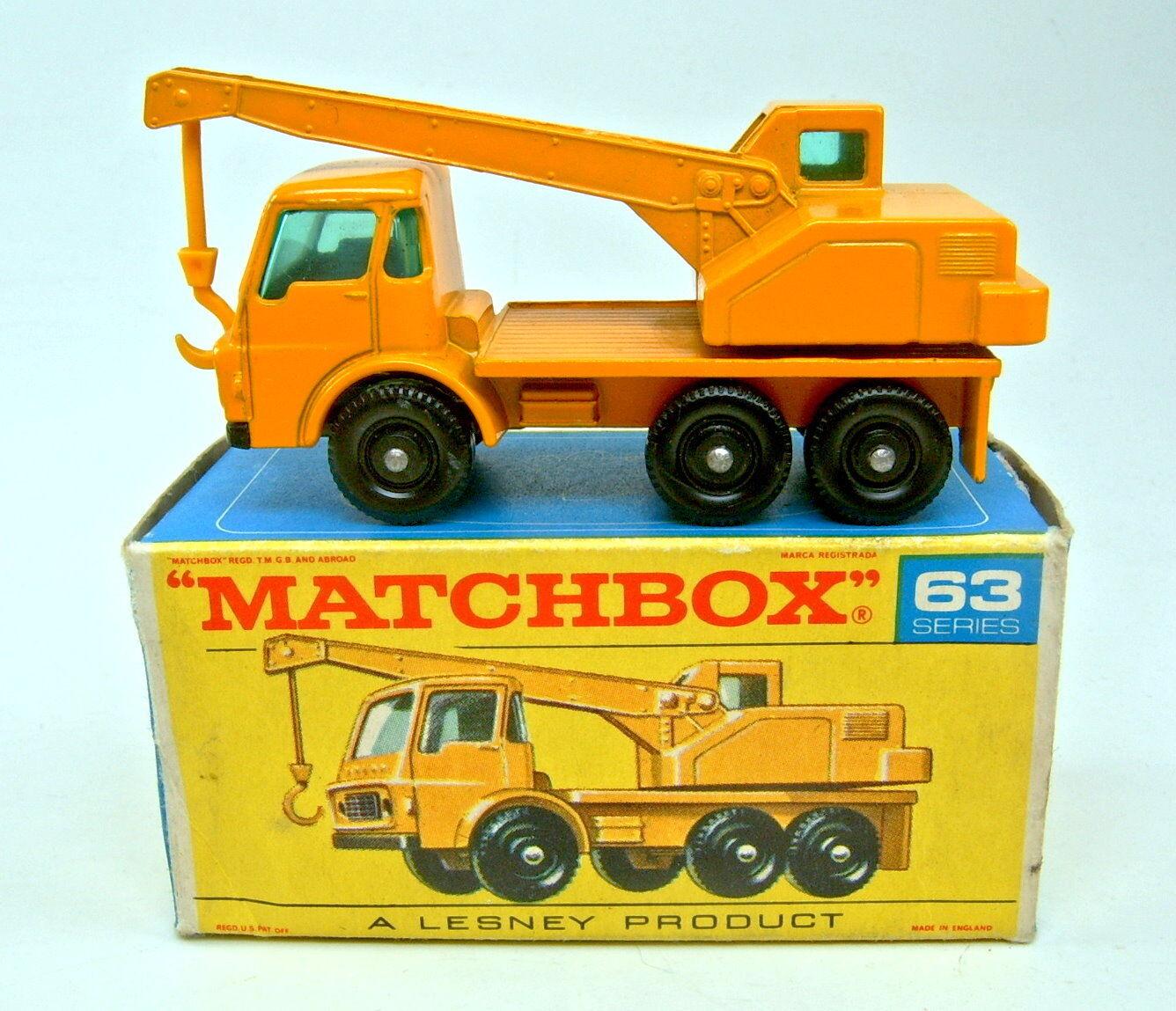 con 60% de descuento Matchbox RW 63c Dodge Crane camión camión camión amarillo gancho Top en  F  box  se descuenta