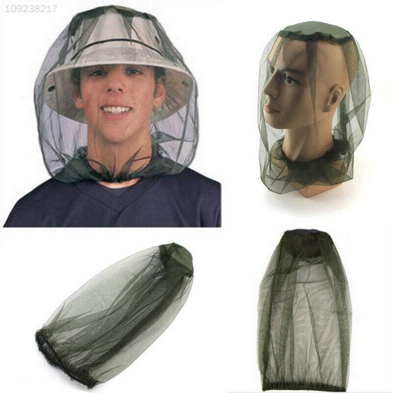 B414 Mosquito Bee Bug Mesh Net Head Face Protector Hat Hiking Travel Camping