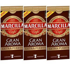 3-X-250-gr-MARCILLA-GRAN-AROMA-EXTRA-FUERTE-SPANISH-GROUND-COFFEE-CAFE