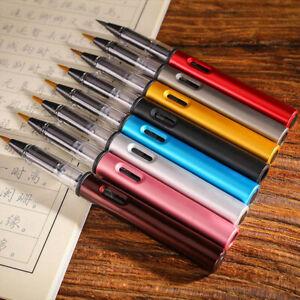 Metal-Aluminum-Rod-Soft-Pen-Ink-Bag-Convenient-Beauty-Useful-Pen-BS