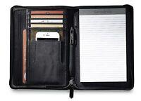 Samsonite Perry Leather Junior Zippered Closure Padfolio With Gift Box -