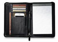Samsonite Perry Leather Junior Zippered Closure Padfolio With Gift Box -