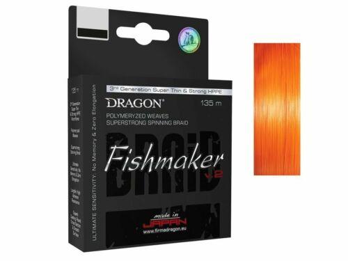 Dragon Fishmaker V2 Light Orange 135m 0,06mm 0,20mm Braided Line NEW 2019