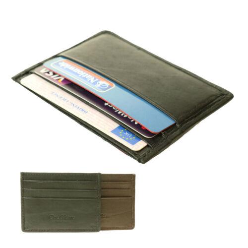 Nouveau petit Slim mince de haute qualité carte de crédit réel portefeuille en cuir titulaire 215