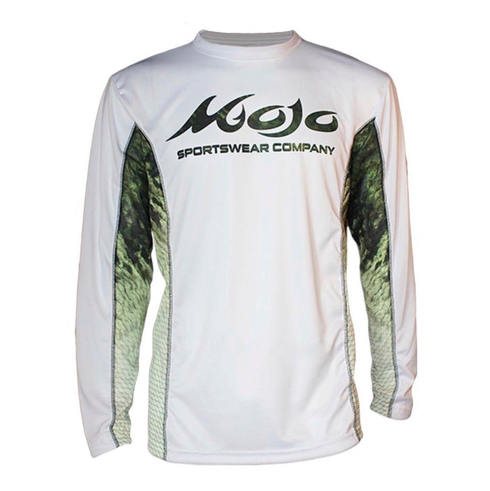 Mojo Sportswear Finny Vented Performance Fishing Boat T-shirt..XS-4X..Bass