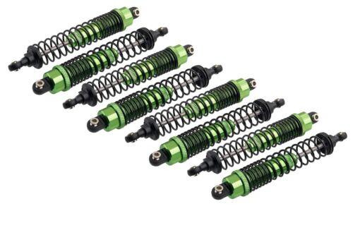Green Aluminium Threaded Shocks for Traxxas T-Maxx /& E-Maxx Rc Cars