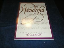 Swindoll Bible Study Guide: His Name is Wonderful (1992, Paperback)