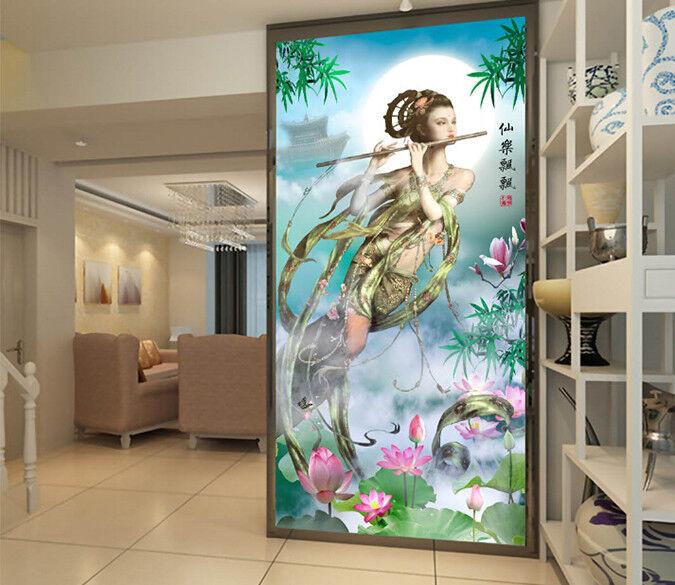 3D Fairy Lotus Moon 74 Wall Paper Murals Wall Print Wall Wallpaper Mural AU Kyra