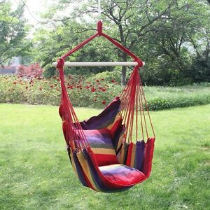 Image Is Loading Garden Hanging Cushioned Seat Tree Hammock Porch Swing