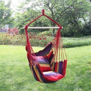 Garden Hanging Cushioned Seat Tree Hammock Porch Swing Chair ...