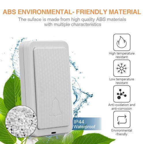 High Quality Waterproof Self-Generating Wireless Doorbell Door Bell US AU CA