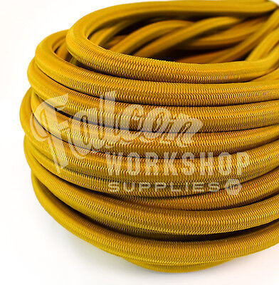 Climbing & Caving Sporting Goods 10mm Mustard Yellow Elastic Bungee Rope Shock Cord Tie Down Roof Racks Trailers Evident Effect