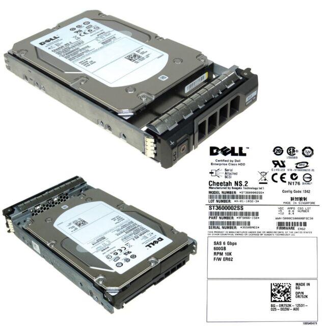 """9FS066-057 DELL 600GB 10K SAS 3.5/"""" 6Gb//s HDD CHEETAH NS.2 ST3600002SS"""
