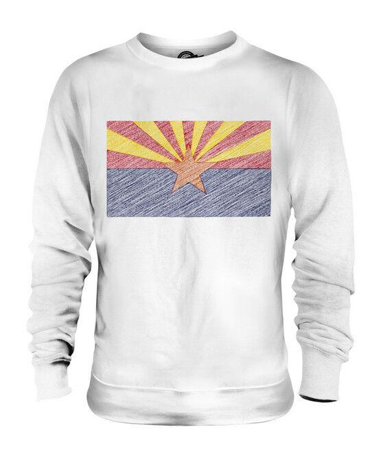 ARIZONA STATE SCRIBBLE FLAG UNISEX UNISEX UNISEX SWEATER  TOP GIFT ARIZONAN ARIZONIAN  | Sehr gute Farbe  b85691