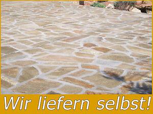 5m Naturstein Terrassenplatten Polygonalplatte Quarzit Weg Terrasse