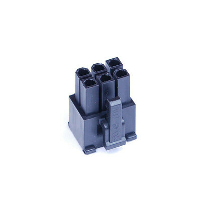 Shakmods 6 pin AUX Power Supply Connector Socket Black  + 6 Free Female Pins UK