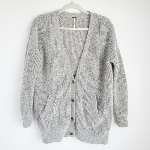 Free People Oversized Button Front Cardigan Womens