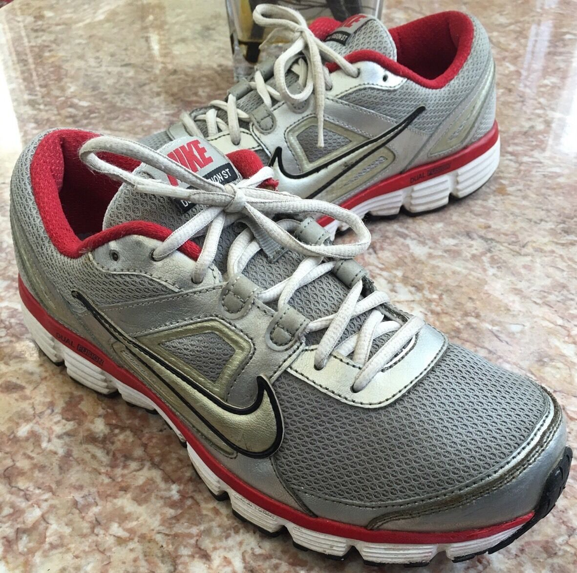 Nike Dual Fusion ST Performance Gray Running Men's Shoes Comfortable