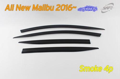 Smoked Door Visor Rain Vent Guard Window 4P Blk Molding K//158 for Malibu 2016~19