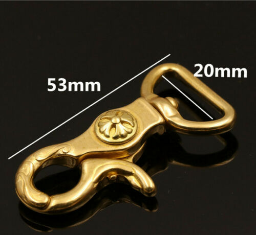 Solid Brass Lobster Clasp Swivel Trigger Clip Snap Hook Bag Dog Leather Key Ring