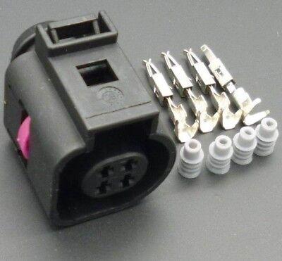 AUDI VW SKODA 4 Polig STECKER Connector 4B0973712 A 4B0 973 712 A 4B0973712A