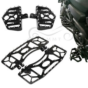 Motorcycle CNC Foot Pegs Pedal Floorboard For Harley Touring FLT Dyna FLD