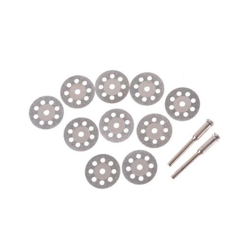 10PCS 20mm Diamond Cutting Disc Metal Grinding Wheel Disc Drill Rotary Tool HC