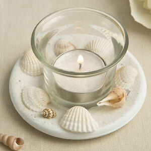 image is loading 10 beach theme candle favors natural seashell wedding