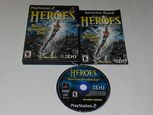 450743882 Heroes of Might and Magic Quest Dragon Bone Staff Playstation 2 Game ...