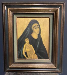 Richard Tassan Grenoble Peinture Religieuse Vierge Marie Jesus Christ