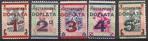 s1752-Polen-Polska-postfrische-Serie-Poczta-Polowa-Doplata-1-D-5-D-polnisch