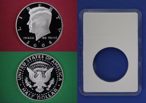 2004 S Proof John Kennedy Half Dollar With DIY Slab DCam Clad Combined Shipping