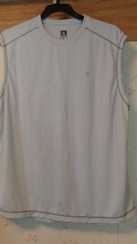 Men/'s Champion Double Dry Sleeveless Shirts SIZE M NEW WOT Tag GRAY Damage XL